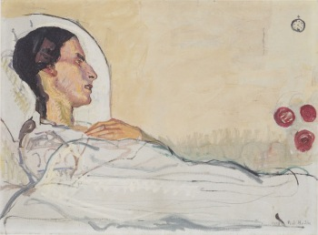 Hodler - The Sick Valentine Gode Darel (1914)