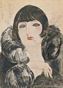 Kees van Dongen - retrato de una mujer con cigarrillo (1924)