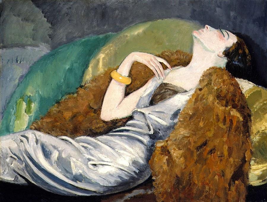 Resultado de imagen de mujer abatida en un sofa pintura