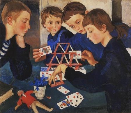 Zinaida Serebryakova - Castillo de naipes (1919)