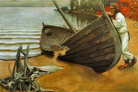 Akseli Gallen-Kallela - El barco, lamentación (1907)