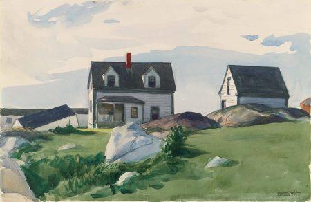 Edward Hopper - Houses of Squam Light, Gloucester (1923)