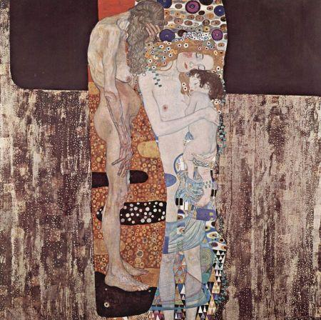 Klimt - las tres edades de la vida (1905)