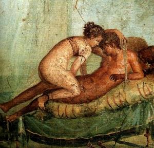 Anónmimo - fresco erótico en Pompeia
