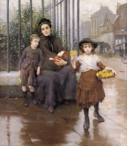 Thomas Kennington - The pinch of poverty (1891)