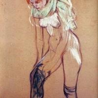 mujer poniéndose las medias (Toulouse-Lautrec, 1894)