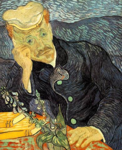 Van Gogh - retrato del doctor Gachet (1890)