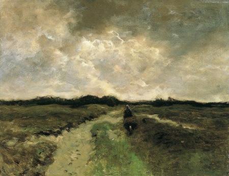 Anton Mauve - Cruzando el brezal (1888)