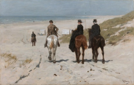 Morning Ride along the Beach, by Anton Mauve
