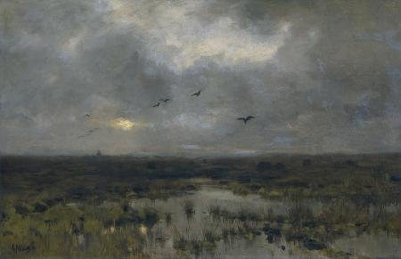 Anton Mauve - Pantano (1885)