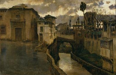 Antonio Muñoz Degrain - chubasco en Granada (1881)