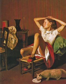 Balthus - Therese soñando (1938)
