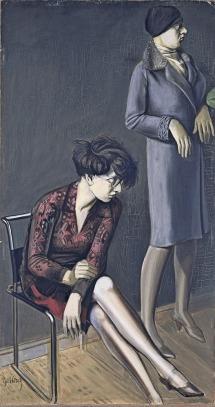 Karl Hubbuch - Doble retrato de Hilde II (1929)
