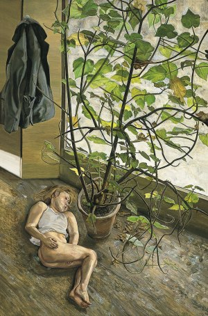 Lucien Freud - gran interior paddington (1969)