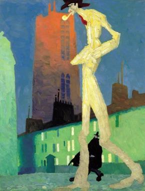 Lyonnel Feininger - el hombre blanco (1907)