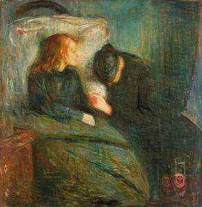 Munch - la niña enferma (1896)