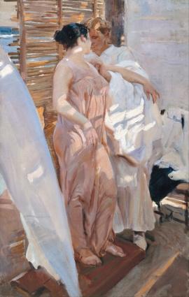 Sorolla - la bata rosa (1916)