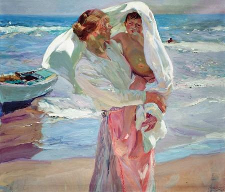 Sorolla - saliendo del baño (1915)