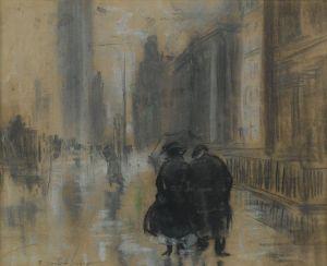 Everett Shinn - la Quinta Avenida (1910)