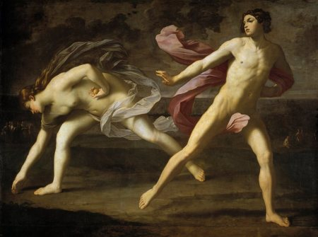 Guido Reni - Hipómenes y Atalanta (1618)