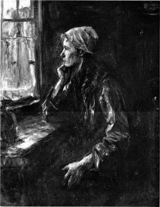 Jozef Israëls - Pensamientos sombríos (1896)