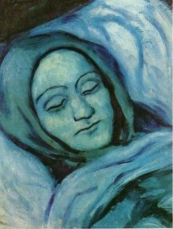 Picaso - cabeza de mujer muerta (1902)