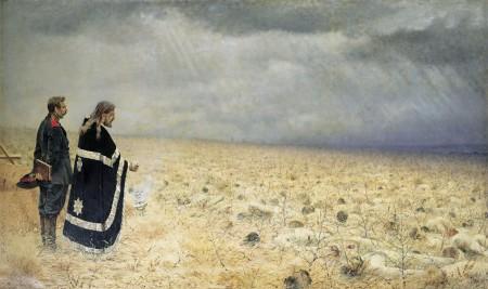 Vasily Vereshchagin - derrota y oración (1878)