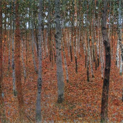 Klimt - Bosque de abedules (1902)