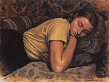 Zinaida Serebriakova - Sleeping Katya (1945)