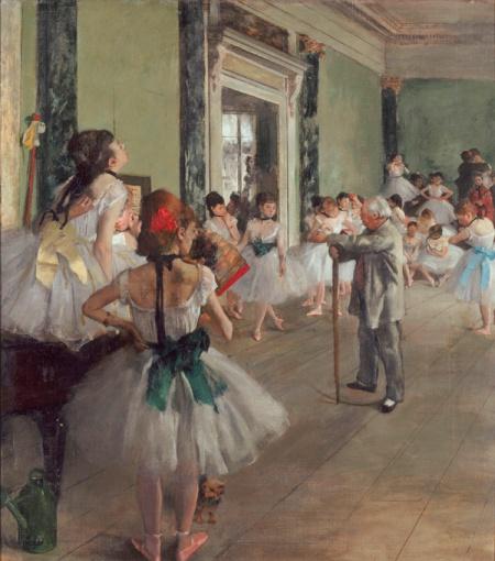 Degas - la clase de danza (1874)