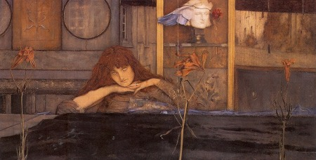 Fernand Khnopff - cierro la puerta detrás de mi (1891)
