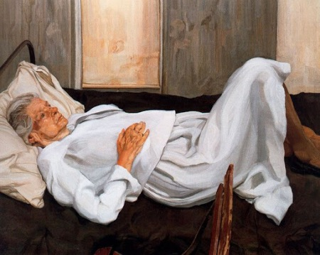Lucien Freud - The Painter's Mother (1984)