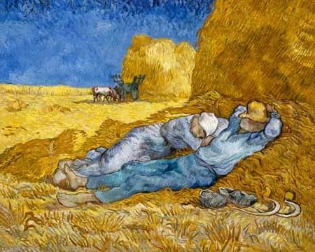 Van Gogh - la campesinos durmiendo la siesta (1890) (01)