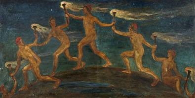 Walter Crane - Race of Hero Spirits Pass (1909)
