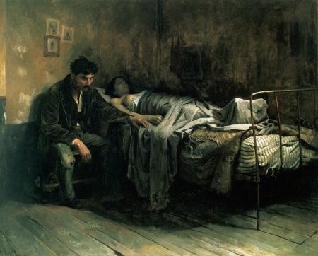 Cristobal Rojas - La Miseria (1886)