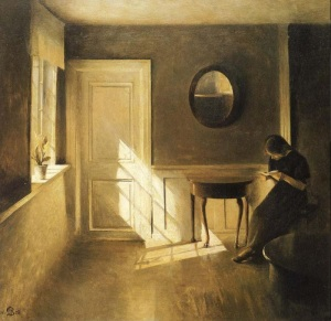 Peter Ilsted - Girl Reading a Letter in an Interior (1908)