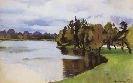 Zinaida Serebriakova - Pond in Tsarskoe Selo (1913)