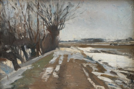 Albert Gottschalk - Winter Landscape. Utterslev Copenhagen (1887)