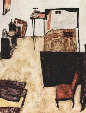 Egon Schiele - la habitación del artista en Neulengbach (1911)