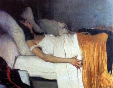 Santiago Rusiñol Prats - La Morfina (1894)