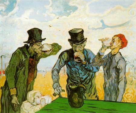 Van Gogh - los bebedores (1890)