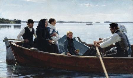 Albert Edelfelt - Child's Funeral (1879)