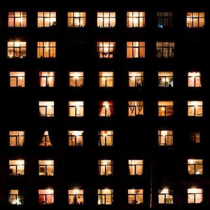 ventanas iluminadas