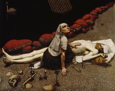 Akseli Gallen-Kallela - La madre de Lemminkäinen (1897)