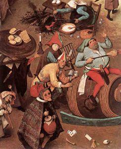 Brueghel - riña entre Carnaval y Cuaresma (1559) detalle 01
