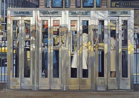 Richard Estes - Cabinas telefónicas (1967)