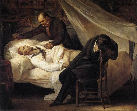 Ary Scheffer - The Death of Gericault (1824)