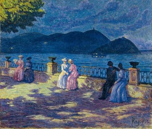 Dario Regoyos - La Concha nocturno (1906)