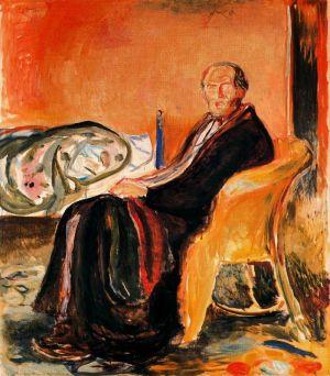 Munch - autorretrato después de la fiebre española (1919)