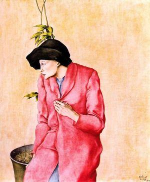 Montserrat Gudiol - Mujer con sombrero negro (1969)